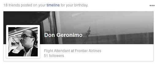 A snippet of my Facebook timeline and how many people sent birthday wishes